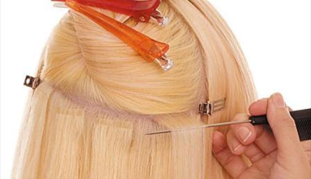 Наращивание волос ленточное