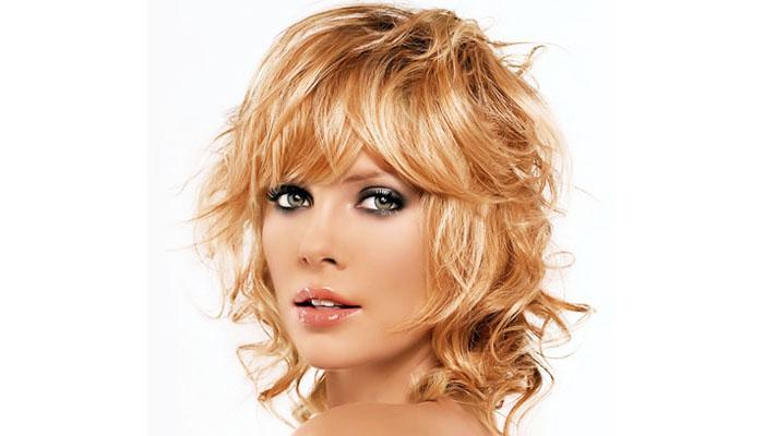 Окрашивание на средние волосы