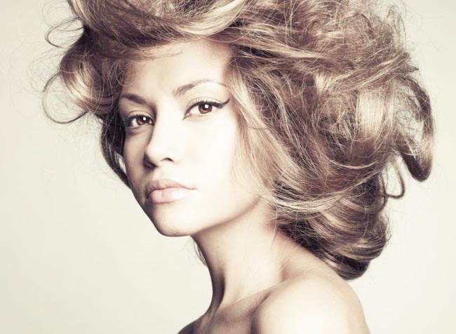 Обьемная укладка волос