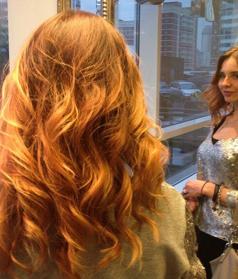 Окрашивание волос с переходом цвета