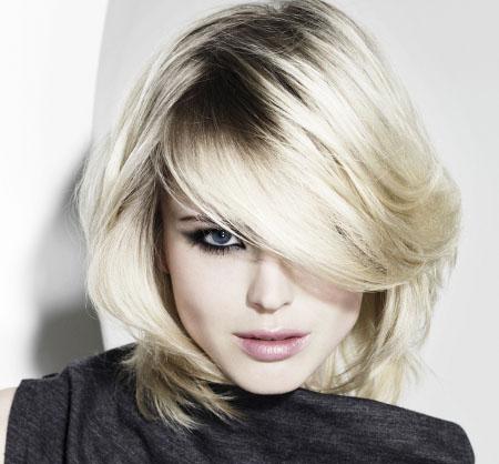 Стрижка на средние волосы